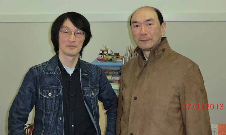 Prof. Jun MAKINO (Left) at Tokyo Institute of Technology with ATIP Japan's Senior HPC Advisor, Eietsu TAMURA (Right)